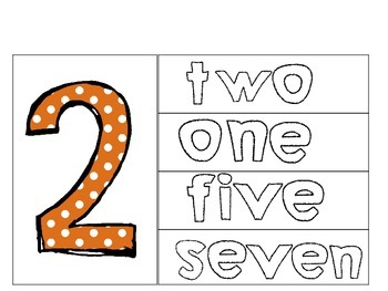 Number Counting Cards