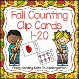 Fall Number Counting Clip Cards