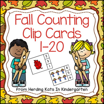 Number Counting Clip Cards - Fall