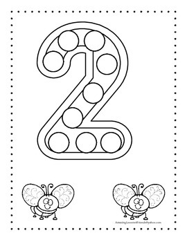 Number Counting Coloring Sheets