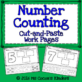 Number Counting Cut and Paste 1-10