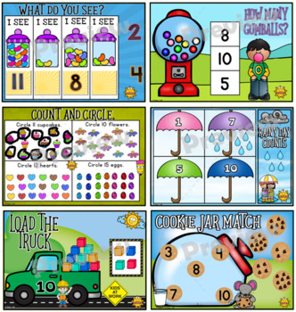 Number Counting Fun~Promethean Board Flip Chart