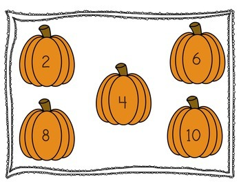 Number Counting Pumpkin Mats