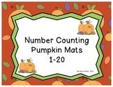 Number Counting Pumpkin Mats