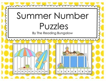 Number Counting Puzzles Sweet Summer