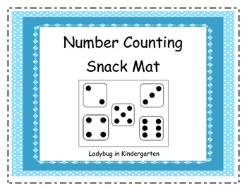 Number Counting Snack Mats for Early Kindergarten