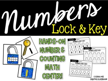 Number & Counting Ten Frame Lock and Key Math Center