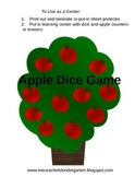 Number Cover Apple Tree Dice Games