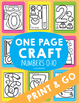 Number Craft Bundle {One Page Math Crafts - Numbers + Writing Papers}