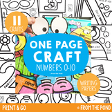 Number Craft Pack {One Page Math Crafts - Numbers + Writing Papers}
