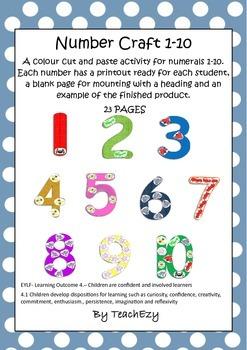 Number Craft Preschool 1 to 10