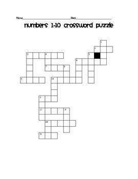 Number Crossword Puzzle  1-10
