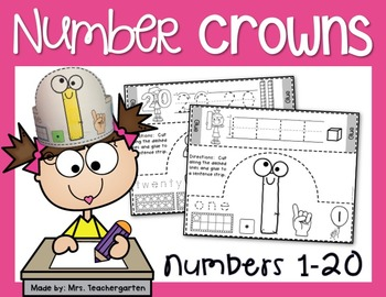 Number Crowns 1-20