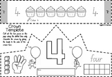 Number Crowns  1 to 10 in NSW Foundation Font for Kindergarten