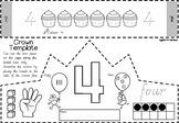 Number Crowns  1 to 10 in Victorian Cursive Font for Kindergarten