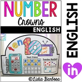Number Crowns 1 to 50 { English }