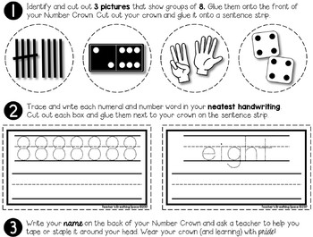 Number Crowns --- Interactive Number Hats For Numbers 1-20