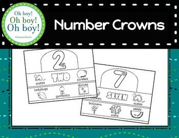 Number Crowns - Numbers 0-10