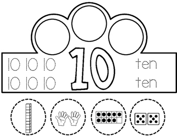 Number Crowns:  Numbers 1-10 Interactive Crowns