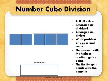 Number Cube Division Freebie