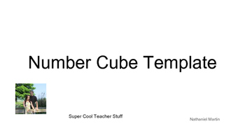 Number Cube Template