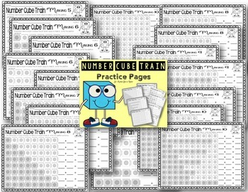 Number Cube Train Practice Pages Numbers 3 - 10 {Decomposing Numbers}