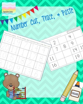 Number Cut, Paste, & Write 1-20