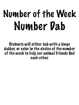 Number Dab