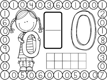 Number Dauber Worksheets 0-10