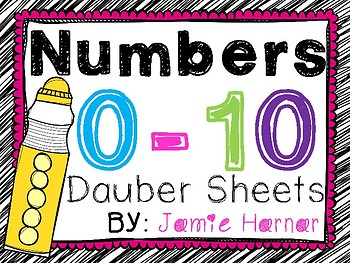 Number Dauber Worksheets with No Tallies 0-10
