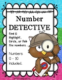 Number Detective { 0 - 10 Number Highlight, Dab, or Color