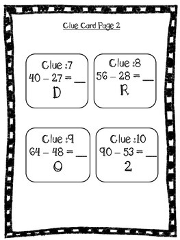 Number Detective: Double Digit Subtraction Game