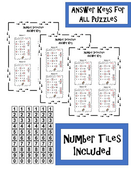 Number Detective Math Tiles - Addition and Subtraction Pack Task Cards