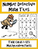 Number Detective Math Tiles - Multiplication Facts 1-12's