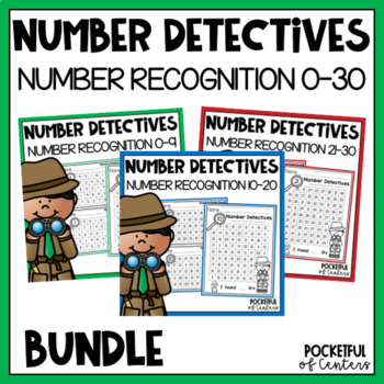 Number Detectives {Printable 0-30 Number Searches} {BUNDLE}