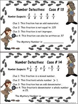 Fractions: Number Detectives **Top Seller
