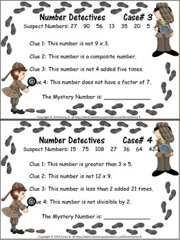 Multiplication and Division:Number Detectives: