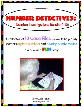 Number Detectives:  Number Investigations Bundle (1-10) For Early Learners