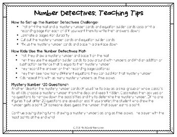 Number Detectives: Open Ended Addition & Subtraction to 100 Challenges