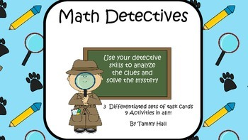 Math Detectives: Solve the Number Mystery Task Cards