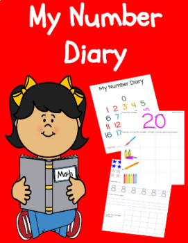 Number Diary, Covering 0 to 20, black and white and color versions