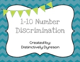 Number Discrimination 1-20