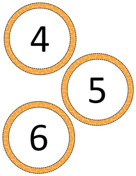 Number Discs-Editable Template