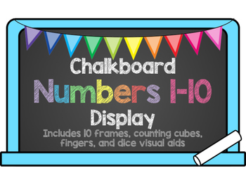 Number Display 1-10 Chalkboard Theme