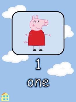 1-10 Number Display Peppa Pig Theme