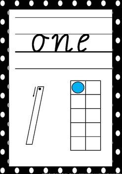 Number Display Cards 0-20