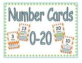 Number Display Cards (Ten Frames)