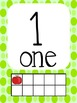 Number Display Signs (Apple with Polka Dots)