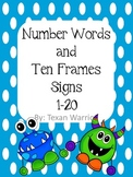 Number Display Signs (Monsters Themed with Polka Dots)