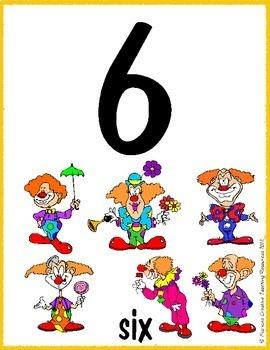 Number Displays 1-20